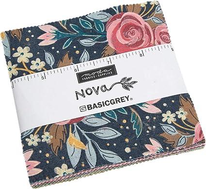 Amazon.com: Paquete de colcha Nova Charm por BasicGrey; 42-5 ...