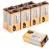 9v battery (PP3, 6LR61, MN1604, E-Block, 9 Volt) Pack of 8 | Ultra Alkaline by GP Batteries| Superb operating time