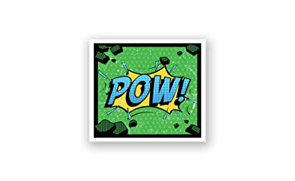 Amazon.com: Pow - Kids Comic Book Art Poster (36x36 ...