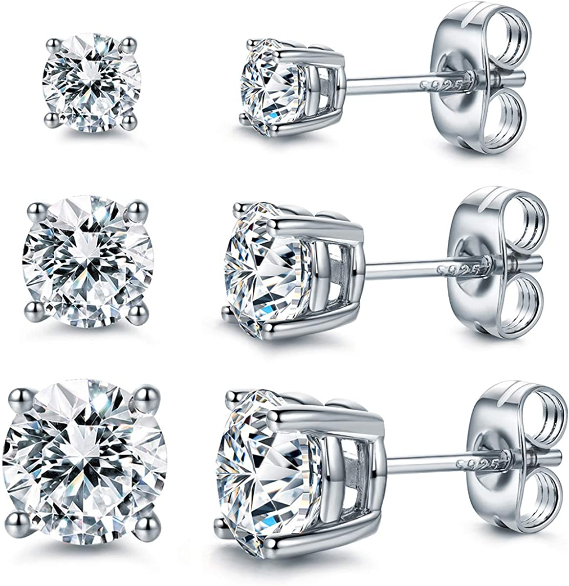 CZ Stud Earrings 925...