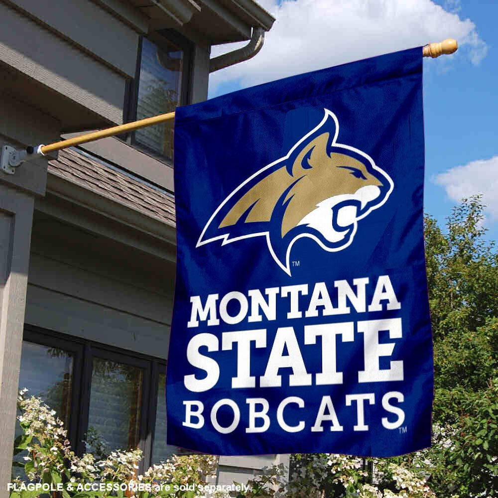 College Flags and Banners Co Montana State University Double Sided House Flag
