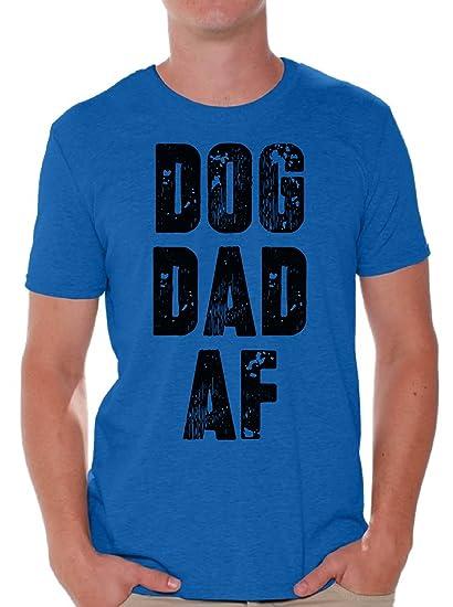 2b682cbc Awkward Styles Men's Dog Dad AF T Shirt Tops Dog Lover AF Gifts for Dad Blue