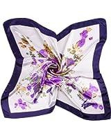 9c9786db7bb iShine Foulard Carré Féminin Motifs Floral Imprimé Turban Grand Taille Echarpe  Printemps Automne Soie Satin Lisse