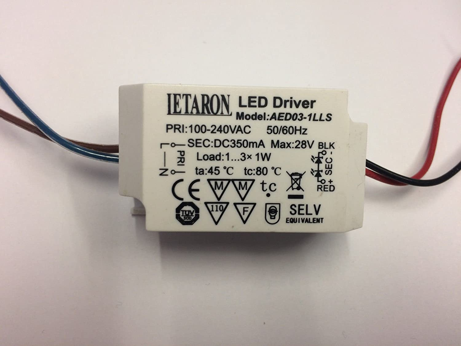 Led Driver Letaron Aed03 1lls 350ma Max 1 3 X W Switch 1w Circuit Business Industry Science
