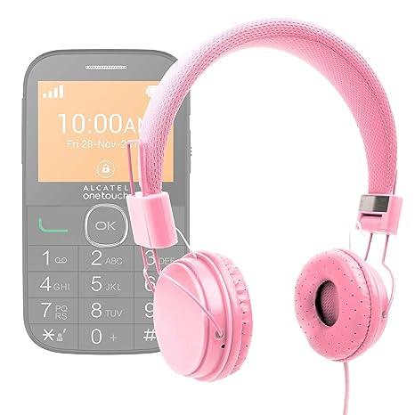 bc2aa81a4e3 DURAGADGET Auriculares De Diadema Color Rosa para Alcatel One Touch OT  20-04G Combinar con