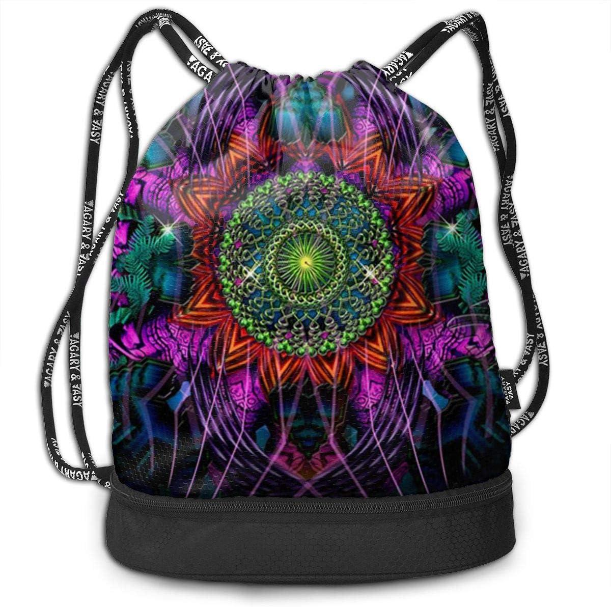 HUOPR5Q Wolf Drawstring Backpack Sport Gym Sack Shoulder Bulk Bag Dance Bag for School Travel