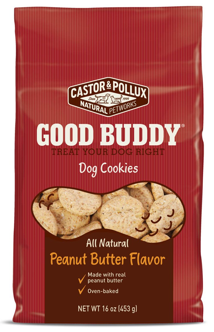 Castor & Pollux Good Buddy Peanut Butter Flavored Dog Cookies, 16 Ounce Bags (Pack of 8)