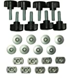 Universal Jeep Wrangler Hard Top Quick Removal Fastener Thumb Screw with Nut Kit --Set of 8