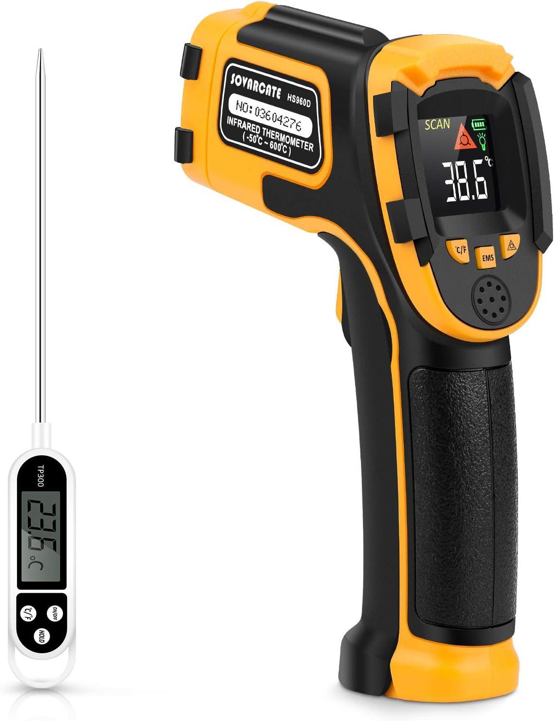 Akozon Thermometer Digital IR01 Series LCD Display No-contact Digital Infrared Thermometer IR01B
