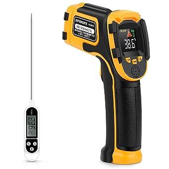 Termómetro Infrarrojo Pistola de Temperatura Láser Digital Sin Contacto -58~1112 ℉ (-