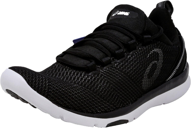 ASICS Women's Gel-Fit Sana 3 Cross-Trainer Shoe, Black/White/Silver, 5.5 M US