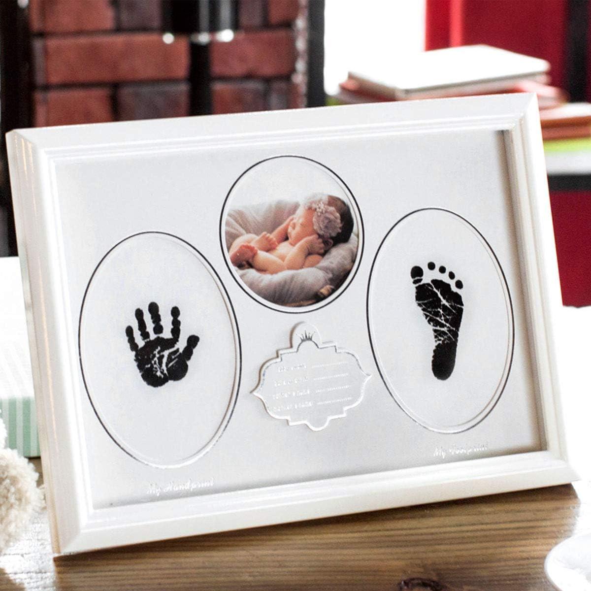 2 Paquete Yuccer 2 PCS Kit de Huellas Bebe Tinta No Toxica Almohadilla de Tinta para Bebes Regalo de Baby Shower para Ni/ños y Ni/ñas Reci/én Nacidos