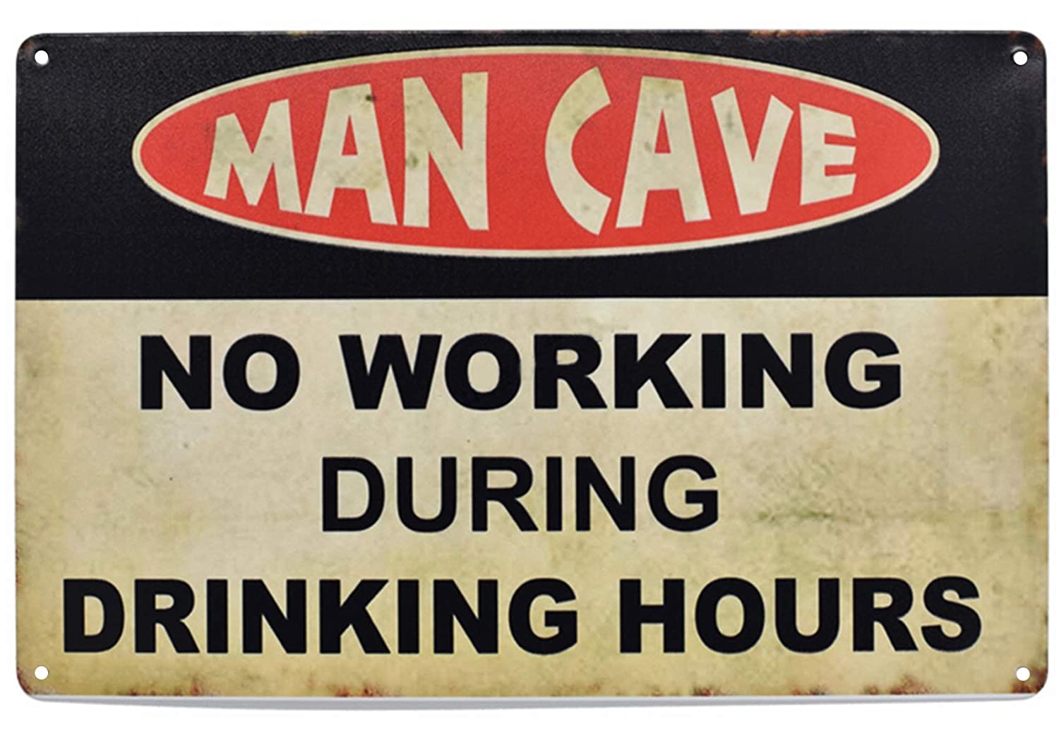 LASMINE Man Cave No Working When Drinking Hours Metal Tin ...