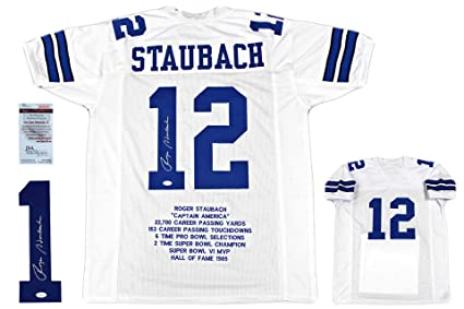 new arrival 3349c 5d3c1 Roger Staubach Autographed Signed Jersey - JSA Witnessed