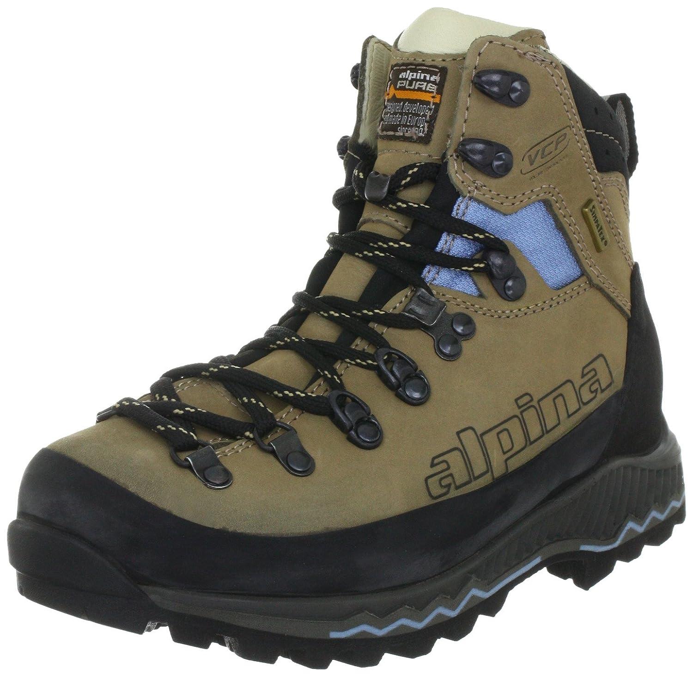 Alpina 680187 680187 - Zapatillas de senderismo de cuero para mujer color beige talla 42