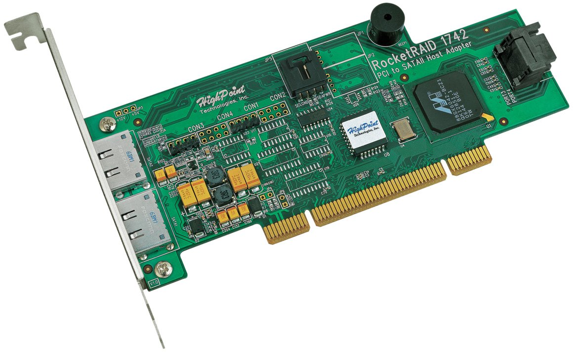 HighPoint RocketRAID 1742 4-Channel PCI SATA 3Gb/s RAID Controller RocketRAID 1742 by High Point (Image #1)