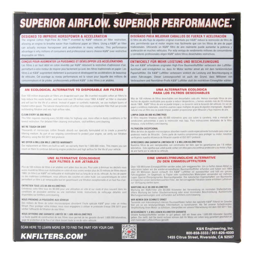 K /& N Ka-8095/filtre /à air de rechange pour Kawasaki Vn800/Vulcan 95 06/ Powersports filtres /à air