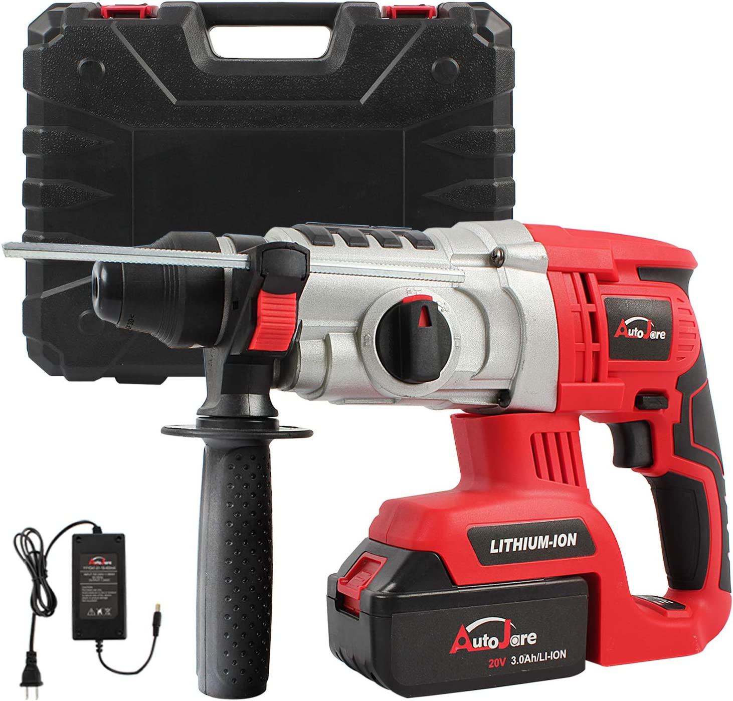 20V Max 18V 1inch SDS-plus Cordless Rotary Hammer Drill, AUTOJARE Brushless Rotary Hammer Drill Kits Includes 3.0Ah Lithium Battery Charger