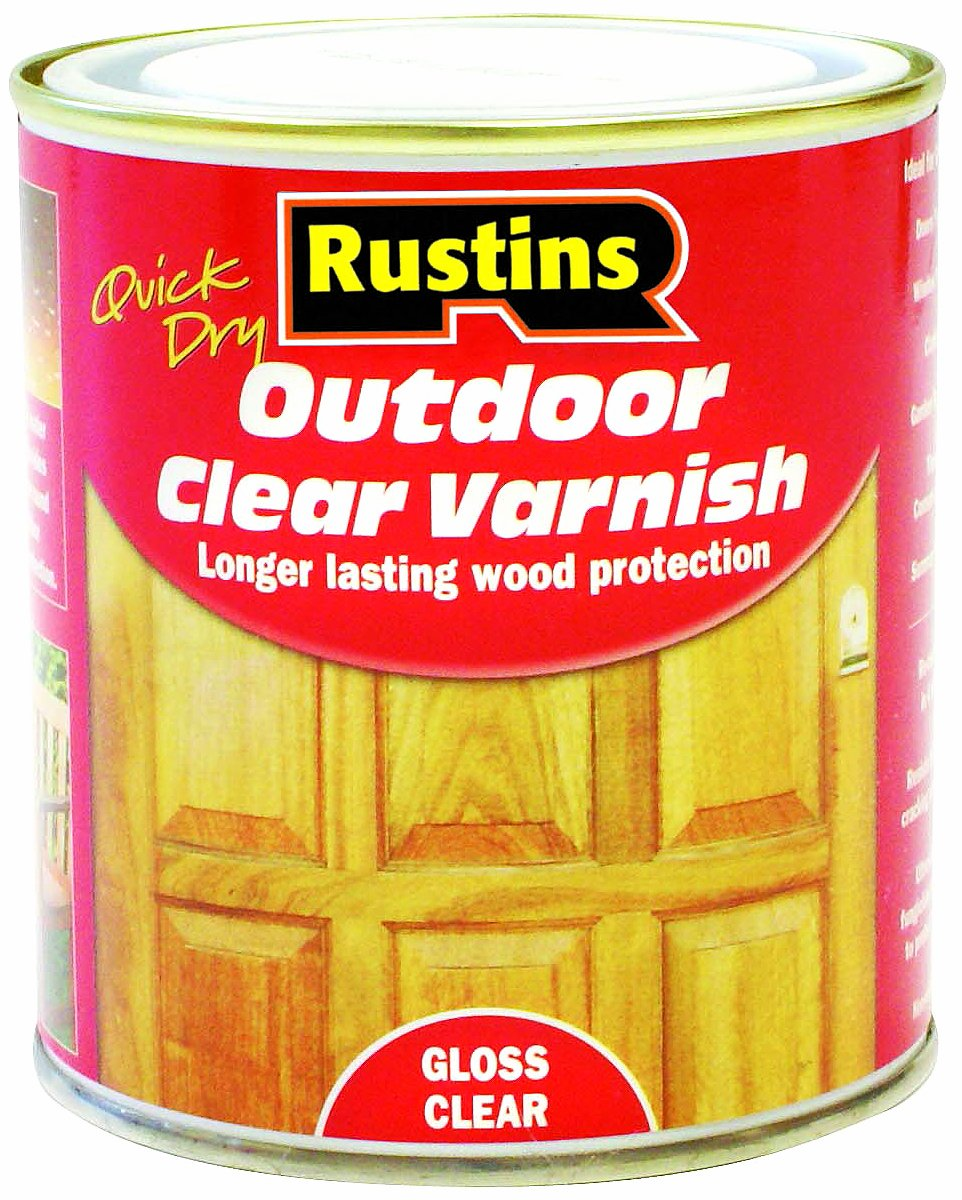 Rustins EAVG500 500ml Outdoor Varnish Gloss - Clear