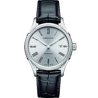 Hamilton Men s H39515754 Valiant Analog Display Automatic Self Wind Black  Watch 58f202188e