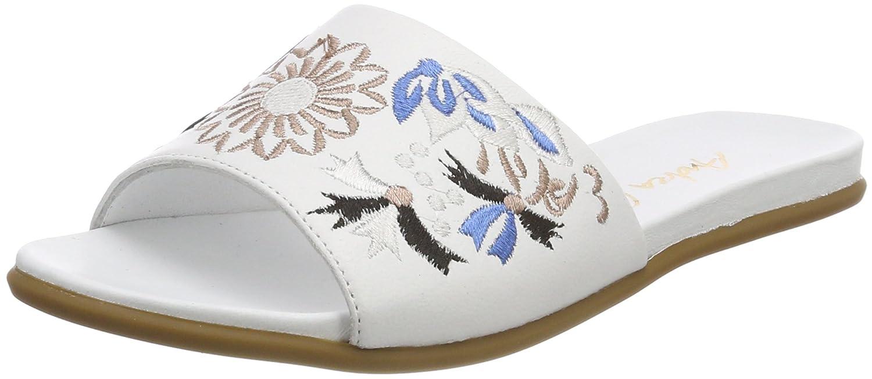 Andrea Conti 1745704, Zuecos para Mujer 36 EU|Blanco (Wei / Kombiniert 181)