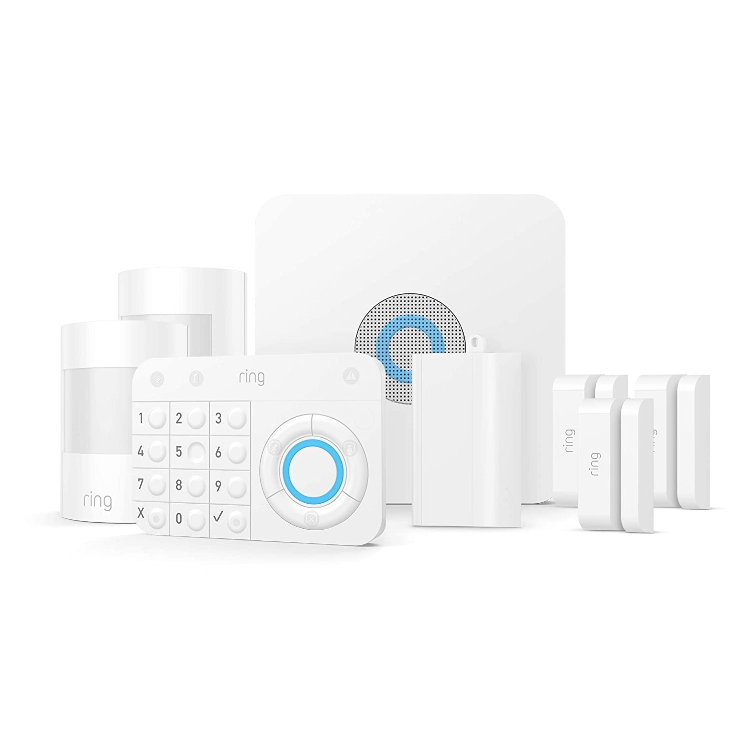 Ring Alarm – Home Security System with optional 24/7 Professional Monitoring – No contracts – 8 piece kit