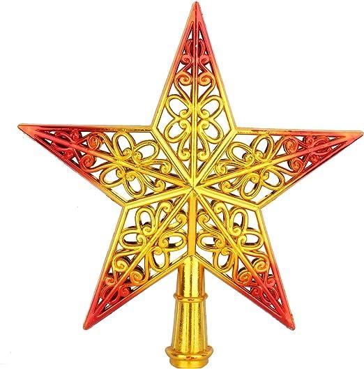 Star Glitter Tree Topper Luxury Metallics Sparkle Bronze Gold Christmas Tree