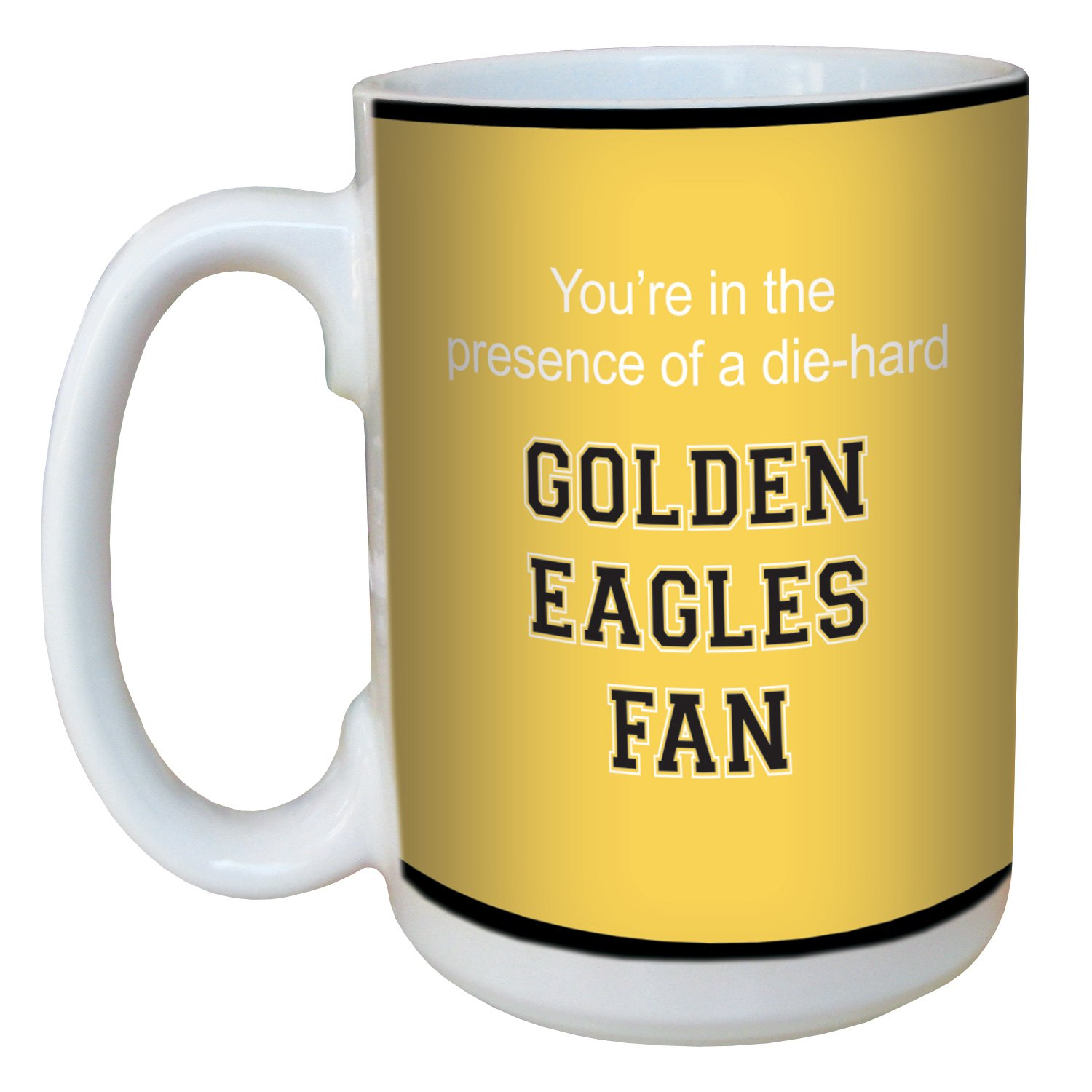 Tree-Free Greetings lm44562 Golden Eagles College Football Fan Ceramic Mug with Full-Sized Handle 15-Ounce