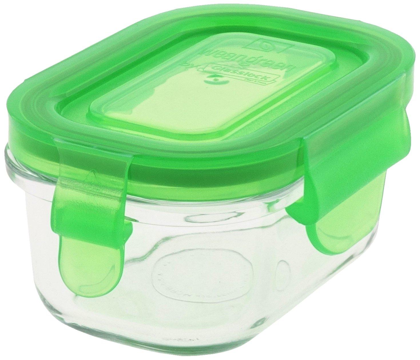 Wean Green GL426PS Tub Speisebehälter aus Glas, pea