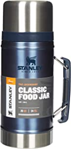 Stanley The Legendary Classic Vacuum Food Jar .94L Nightfall 18/8 Stainless Steel Double-Wall Vacuum Insulation Water Bottle Leakproof + Packable Naturally Bpa-Free