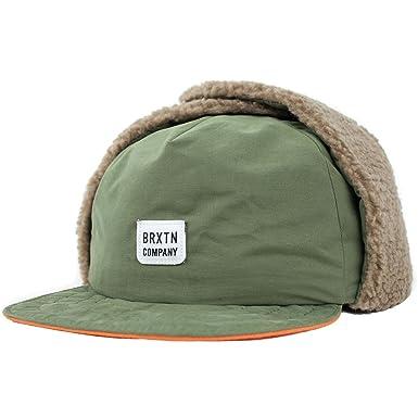 dadb81731e3 Brixton Men s Alferos 4 Panel Ear Flap Cap
