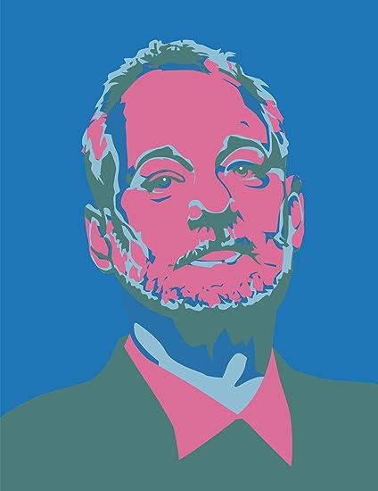 JP London POSLT2247 UStrip Lite Removable Wallpaper Decal Mural Bill Murray Nine Warhol Blue Dark Pink