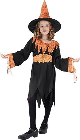 Naranja Bruja niño Disfraz tela de araña de la miel: Amazon.es ...