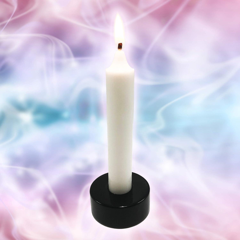 Polar Jade Versatile Candle Holder Made of Black Obsidian Gemstone for Standard Taper Candles /& Tealight Candles