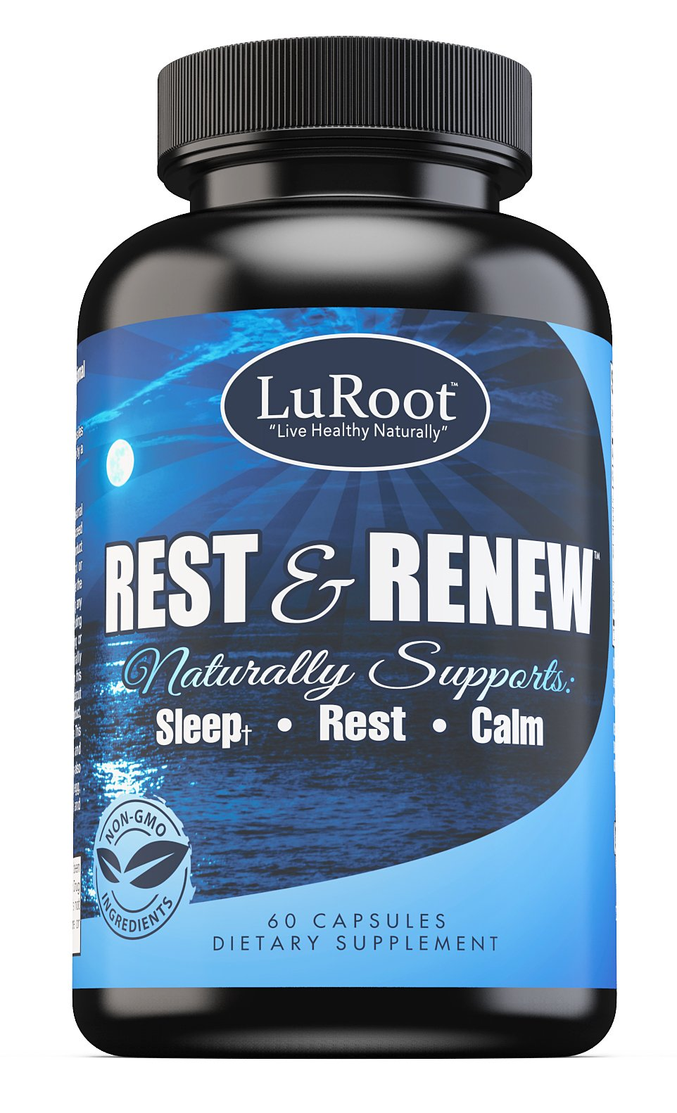 Herbal Sleep Aid with Melatonin by LuRoot – 60x Natural Max Strength for A Deep Sleep