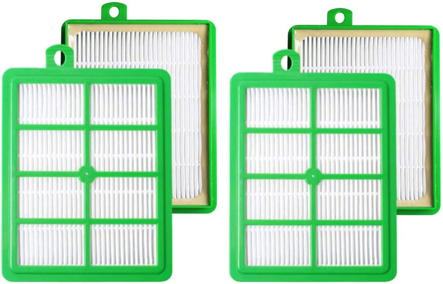 4 Packs H12 Reusable HEPA Filters for Electrolux Harmony, Oxygen, Oxygen Ultra, Oxygen 3 Ultra Canister Vacuum Cleaners, EL012B Replacement