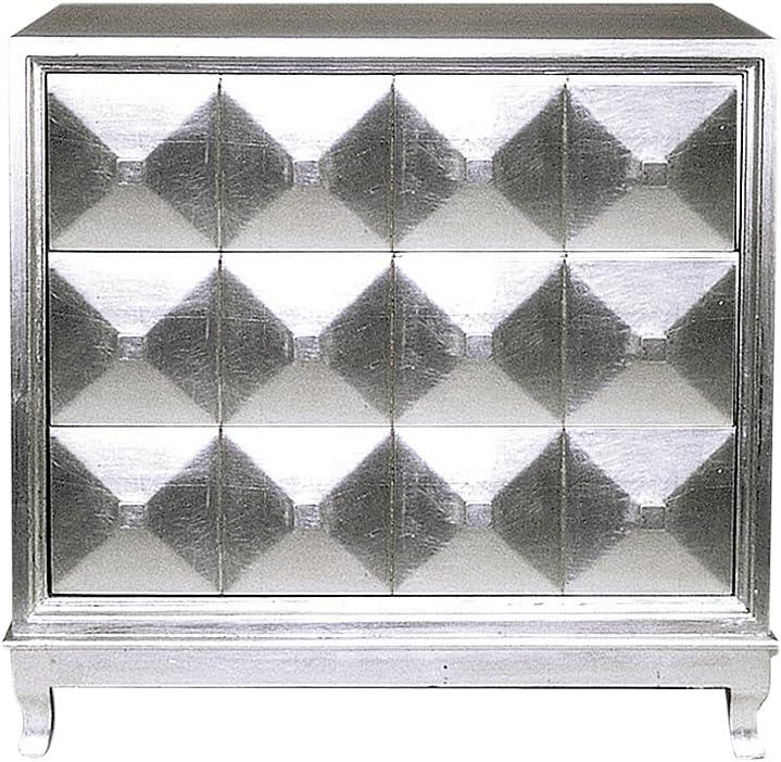 Wayborn Home Furnishing 3 Drawer Dresser, 34 x 36 x 18, Silver