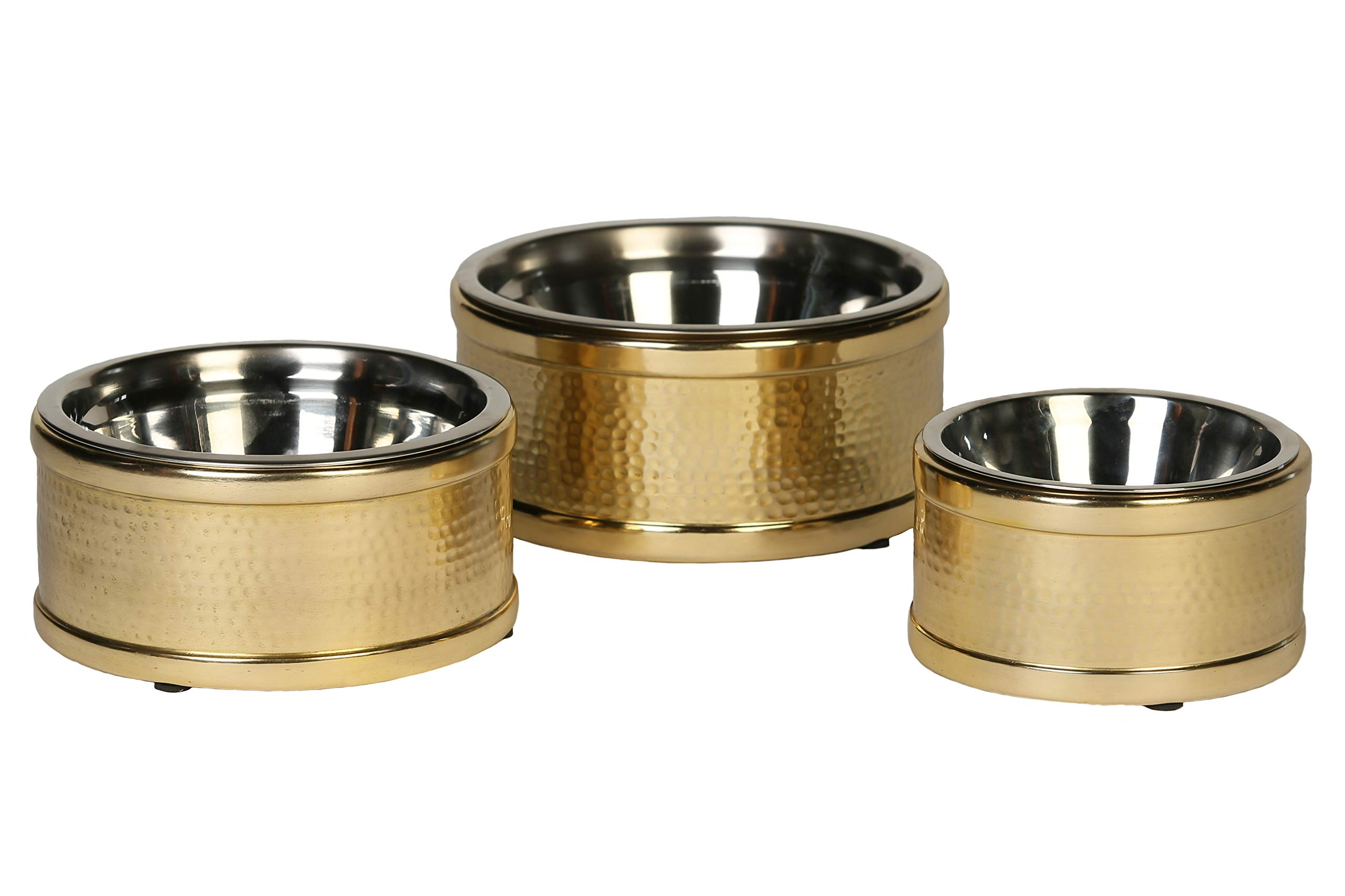 Unleashed Life Hampton Collection – Small-Large Stainless Steel Bowl for Dog/Cat
