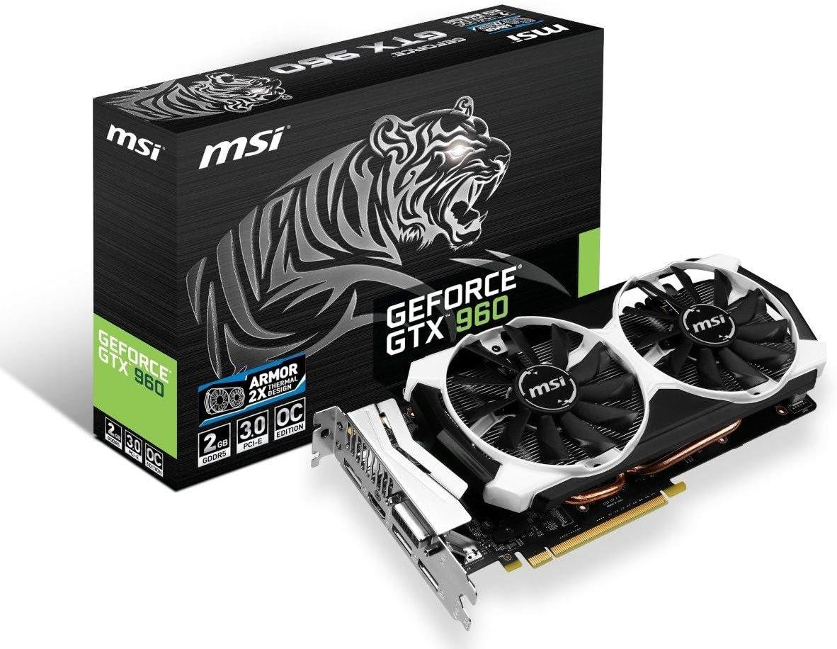 MSI Armor 2X GTX 960 2GB OC Dual Fan HDCP Ready SLI Support (GTX 960 2GD5T OC)
