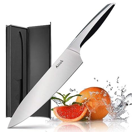 Amazon.com: Cuchillo de cocina Aicok de 8in con ...