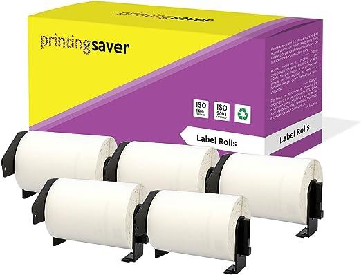 pour Brother Label Printer Lot de 4 rouleaux de papier blanc standard compatibles Brother DK44205 pour impression d/'/étiquettes et d/'adresses
