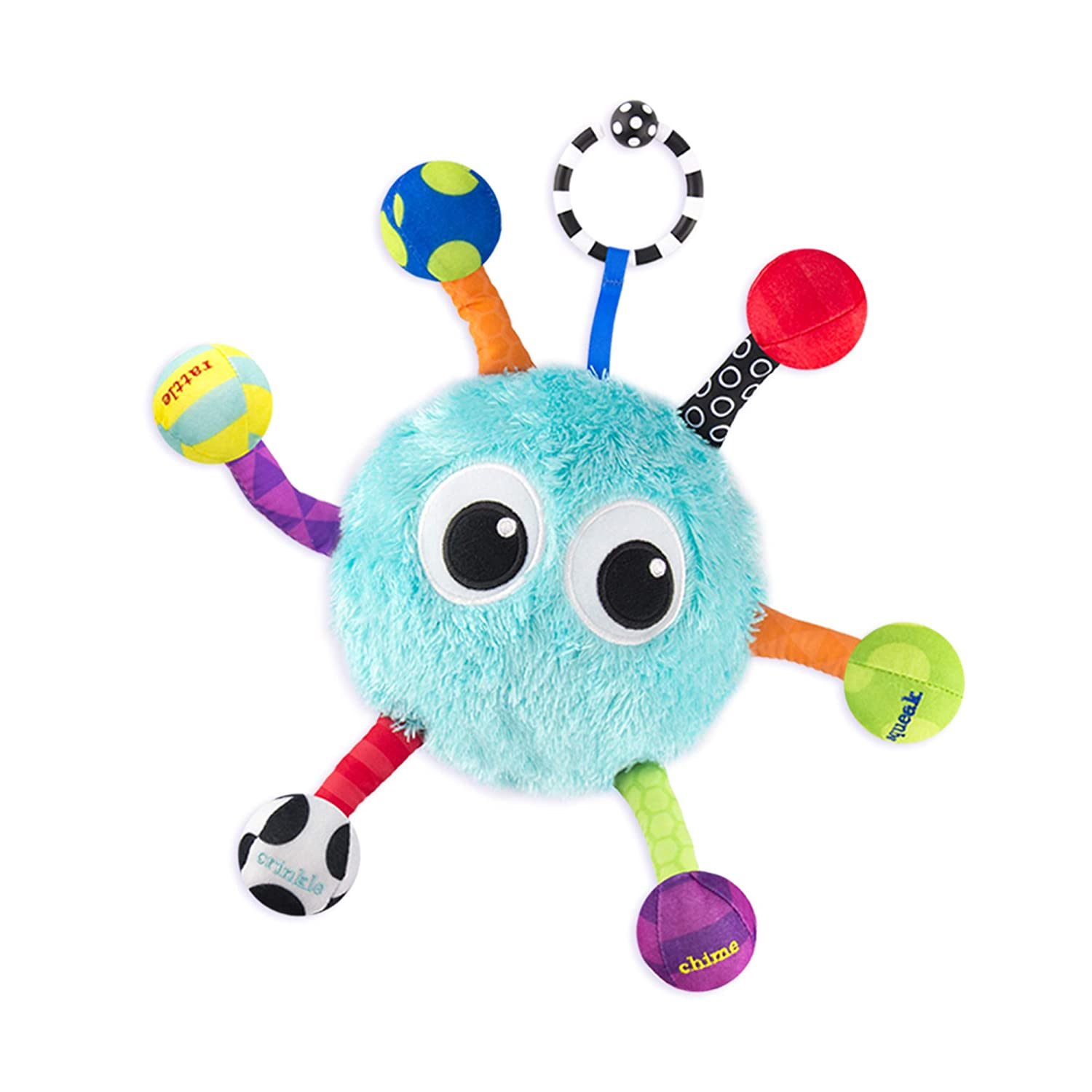 New Baby Soft Rattles Set On the Go Bugs Stroller Toy Child Kid Sassy