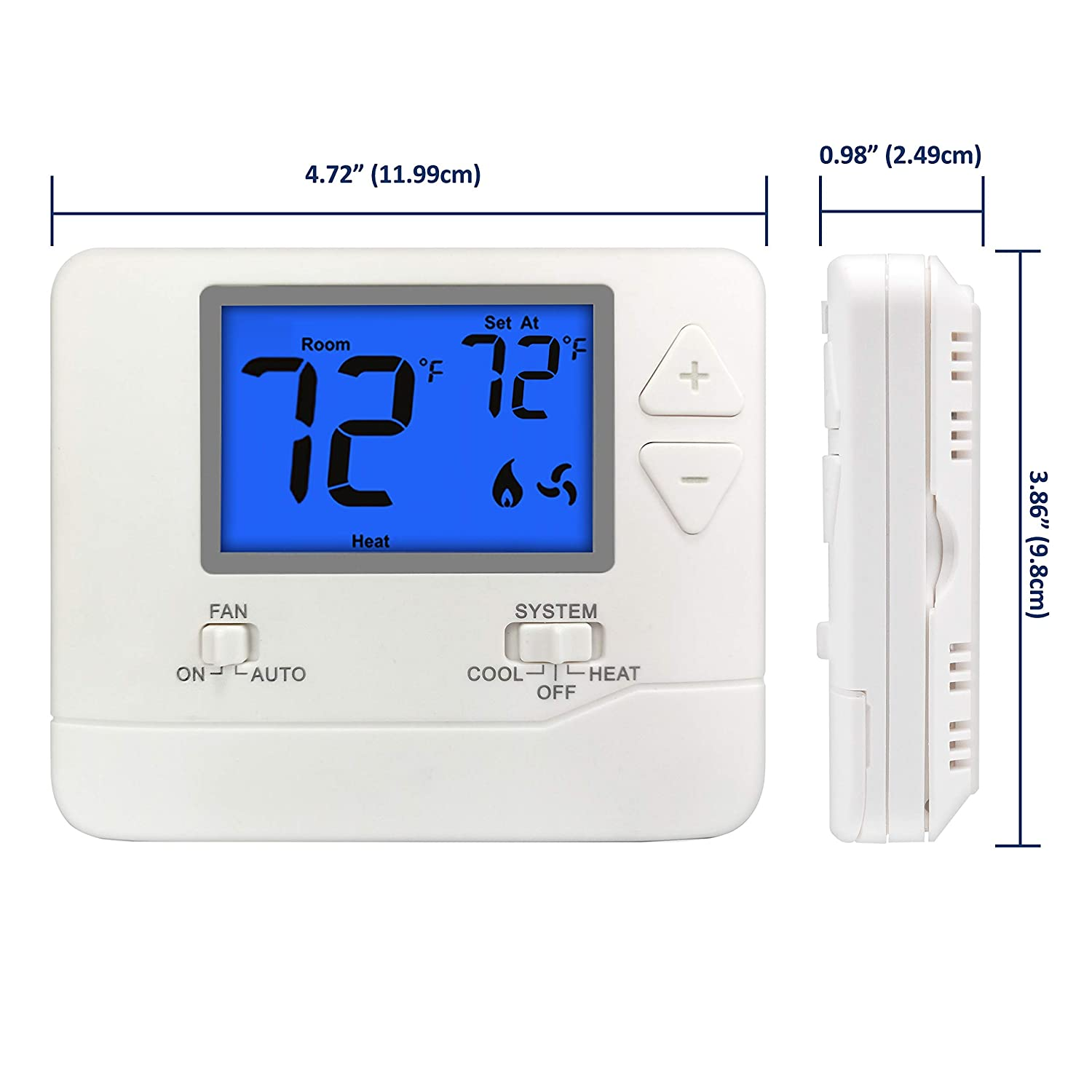 Thermostats & Accessories Tools & Home Improvement Up to 1 Heat/1 ...