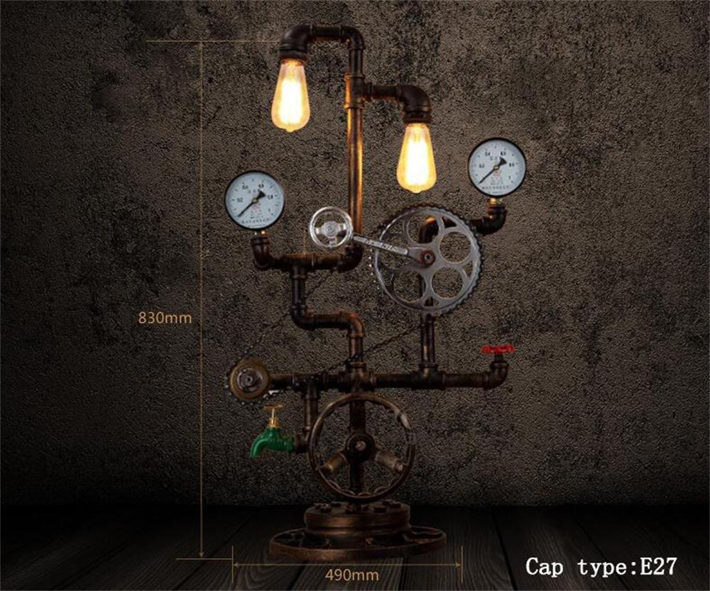 lámparas Luz de Lectura Ideal- Hierro altillo Industrial tuberías ...