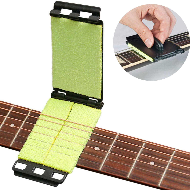 WIKEA Diapasón y limpiador de cuerdas para guitarra, bajo, violín y otros instrumentos
