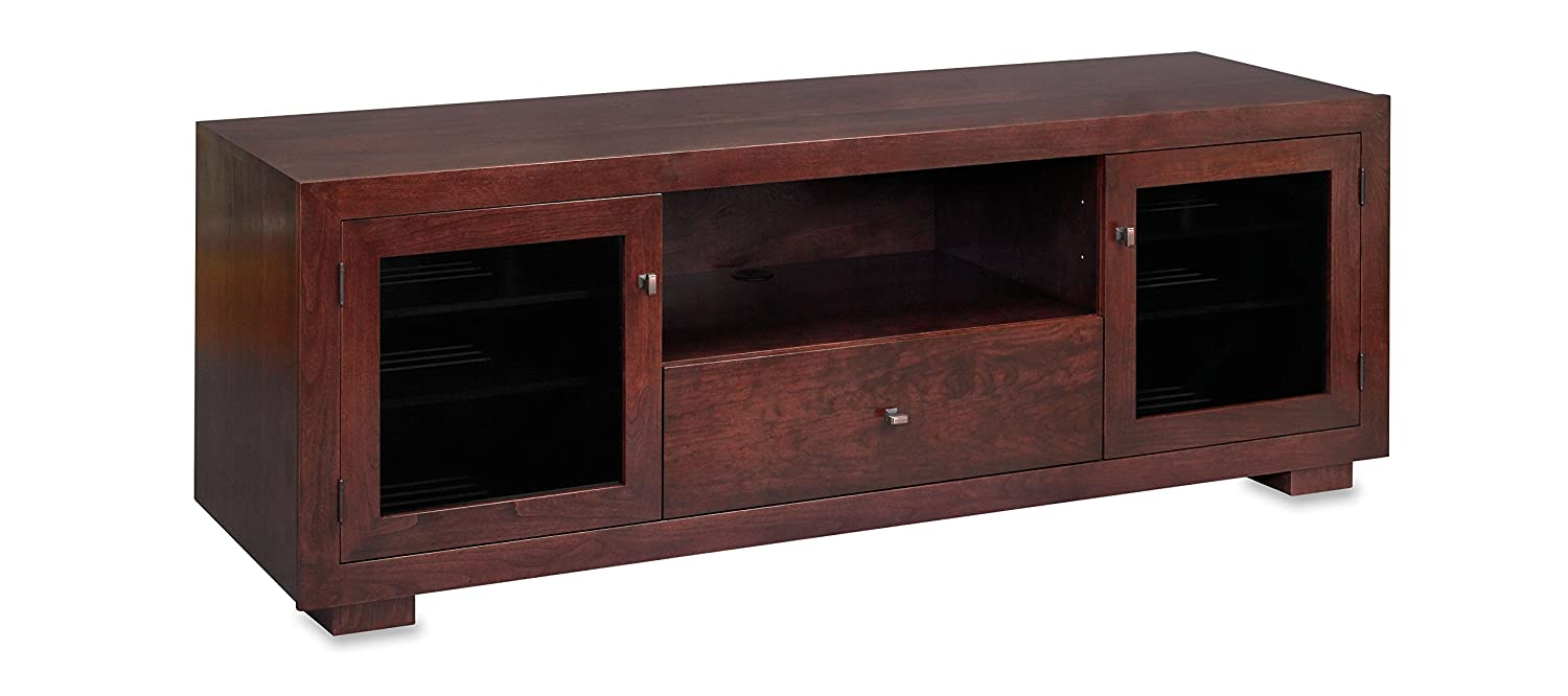 Standout Designs Haven EX 72-inch Solid Wood TV Stand TV Console Media Console for Flat Screen TVs to 80-inch Espresso on Cherry