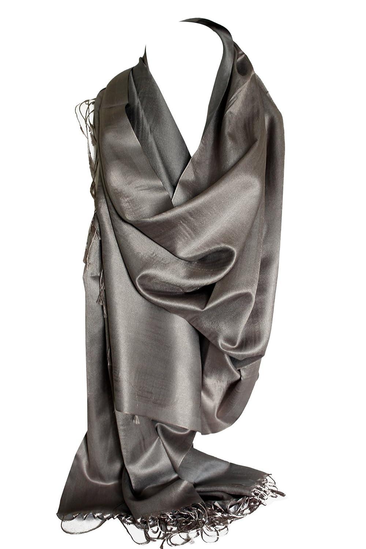 Seide Gef/ühl zweiseitig Reversible lebendige Wrap Schal Stola Schal Hijab Kopf Schals