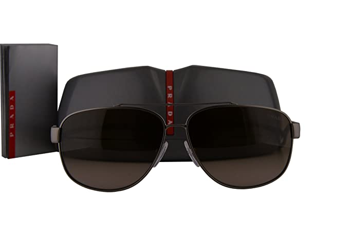 fac62bc659766 Image Unavailable. Image not available for. Colour  Prada PS58QS Sunglasses  Gunmetal Rubber w Grey Gradient Lens ...