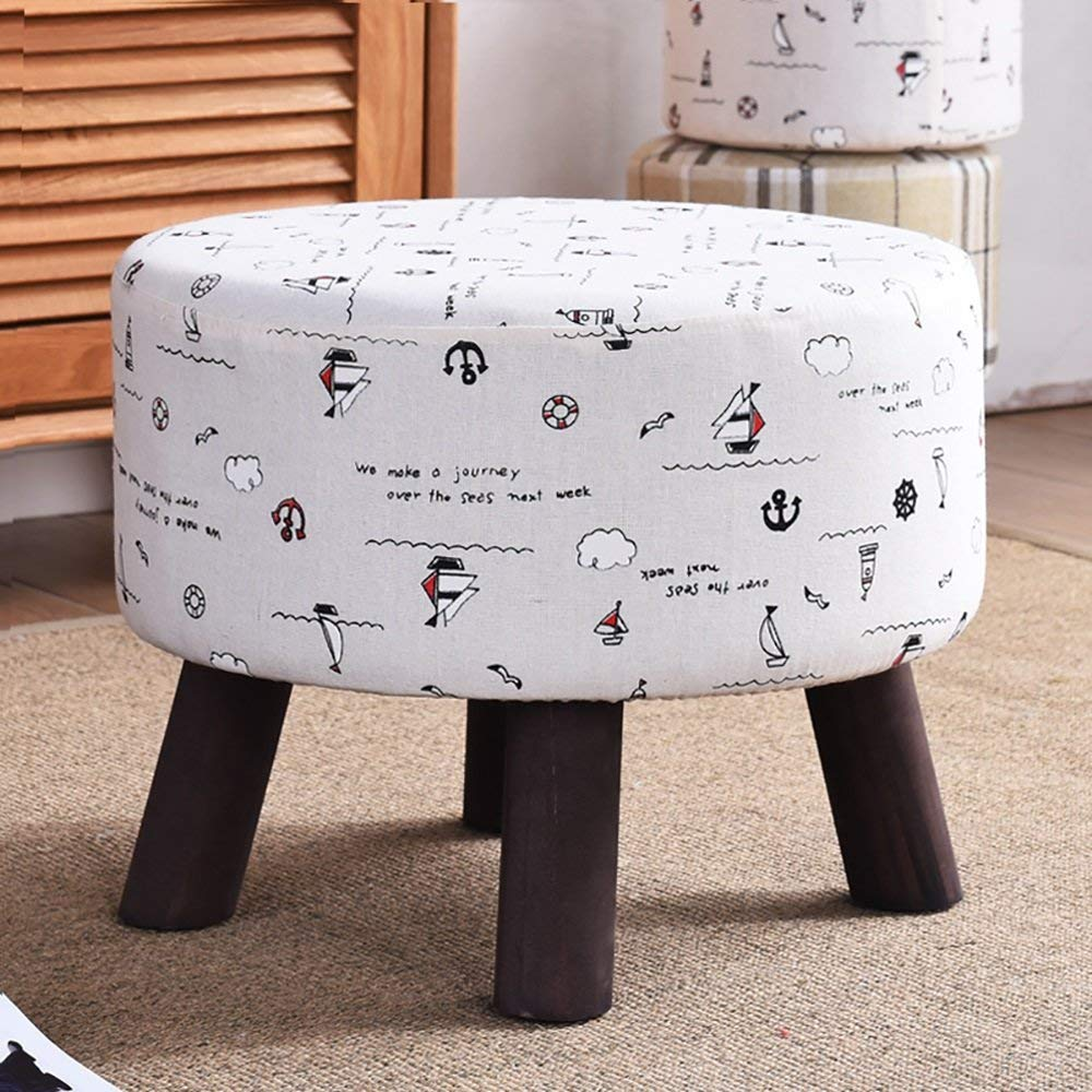 A SED Chair Home shoes Bench Stool-Stool Vintage Solid Wood Round Living Room Coffee Table Sofa Footstool Leisure Sofa Bench