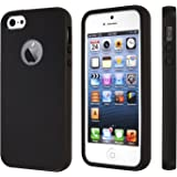 totallee iPhone SE Case, iPhone 5s Case, Black Durable Shock Absorbing Rubber Cover with Excellent Grip fits iPhone 5/5s/SE - Tough & Protective and Light & Slim The Doberman (Black)